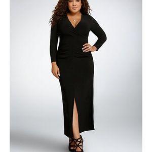 faba4e45685 torrid Dresses - NEW Torrid surplice bodycon long black dress